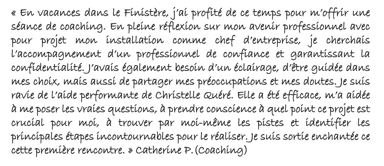 Témoignage coaching Quimper 2